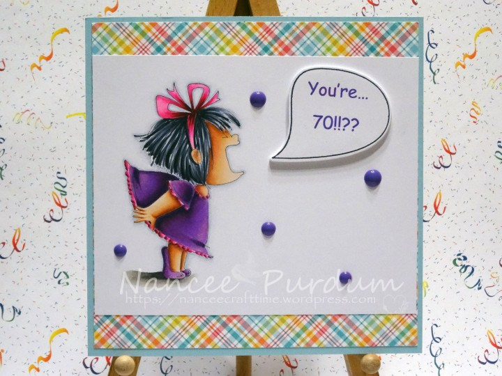70 Gets Closer Every Yearbut Its Still Young Once Again I Used That Great Image Screamy Squidgy From Stamping Bella Just Love Her